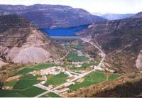 Infografía de la presa del pantano de Santa Liestra.