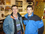 Adolfo Madinabeitia y Juan Miranda de visita en Barrabés Esquí y Montaña
