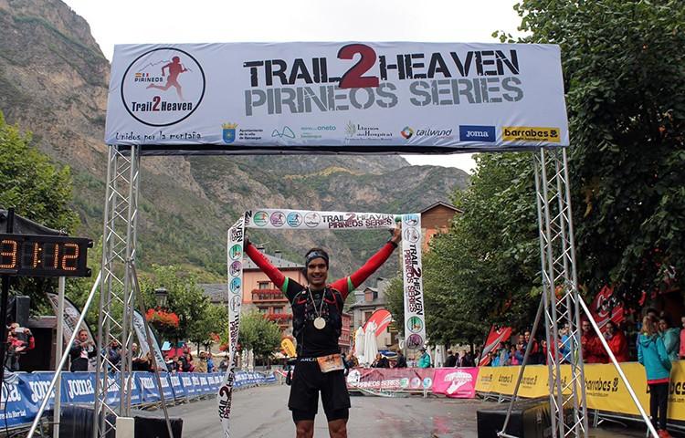 El vencedor entra en meta, Trail2Heaven 2017
