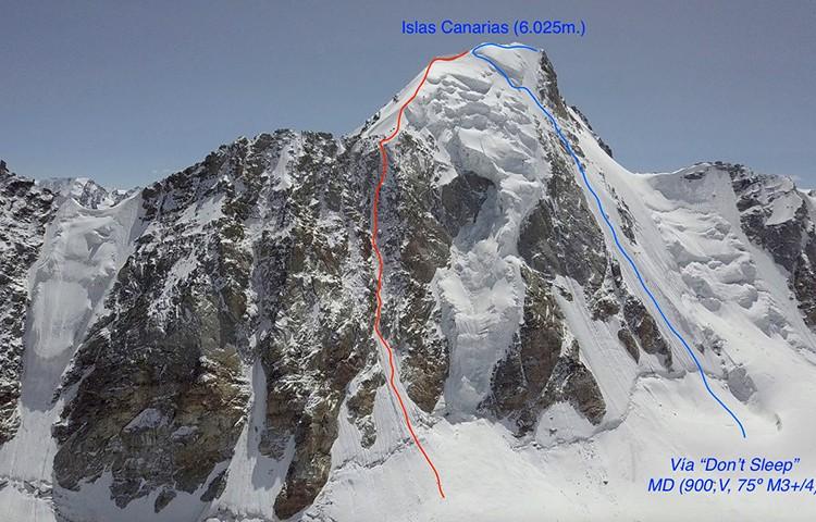 Pico Islas Canarias, vía Don´t Sleep, 1ª ascensión Juan Diego Amador y David Pérez