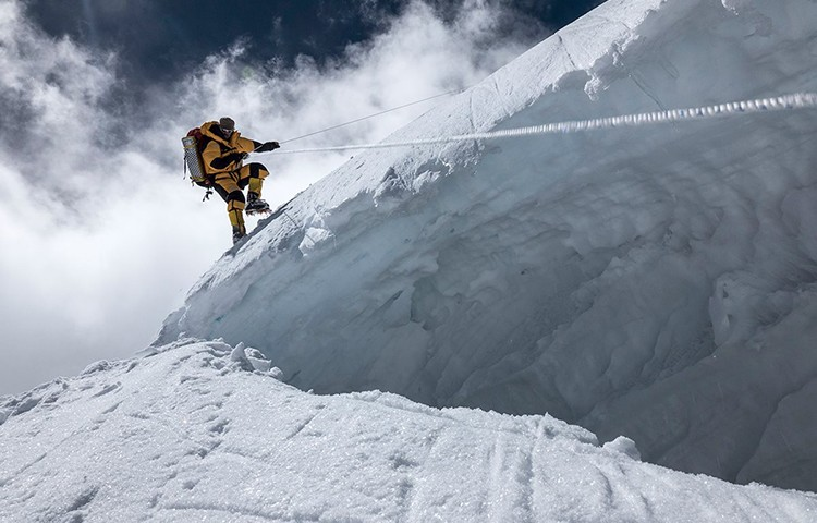 Carlos Soria, en el intento de hace 2 semanas al Dhaulagiri. Foto: Expedición Correos