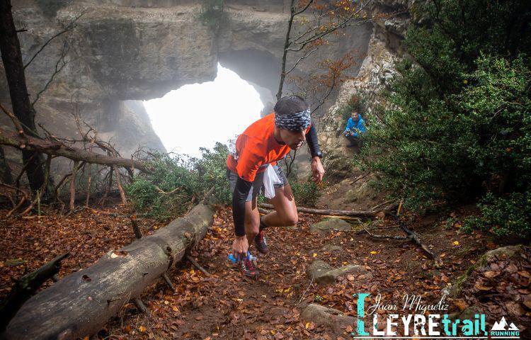 Corredor en la edición 2016 de la Juan Miguéliz Leyre Trail. Foto: Leyre Trail