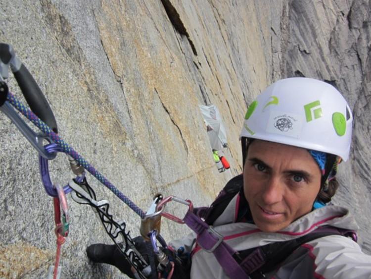 Sílvia Vidal, limpiando el largo 8 de Un pas més. Foto: Sílvia Vidal