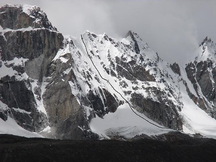 La ruta de Joao García y Ángel Luis Salamanca en el seismil virgen de Nepal
