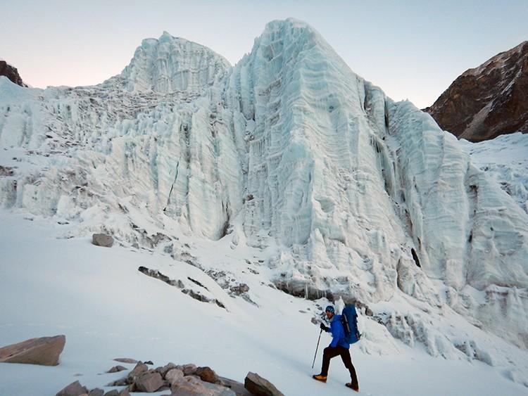 Seracs colgados del glaciar