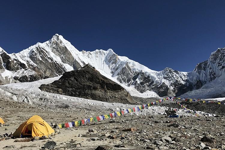 El Burke Khang, desde el campo base. Foto: Expedición Burke Khang
