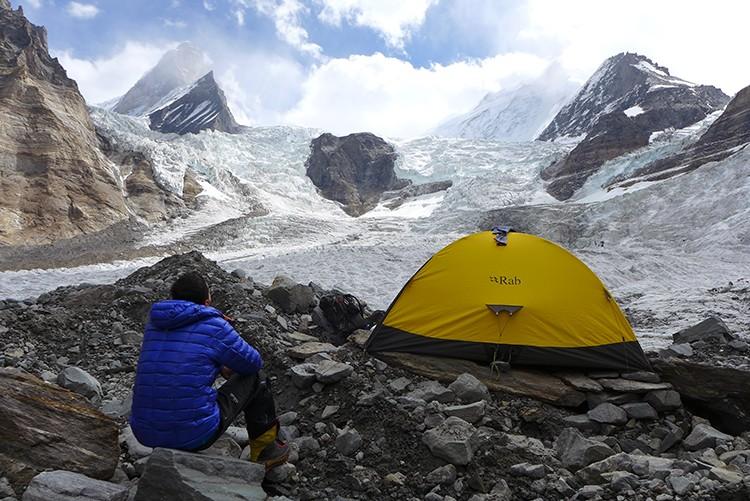 En el glaciar de Parckachik