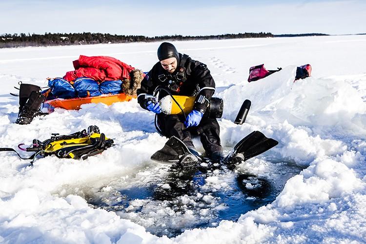 De la pulka al hielo en el Lago Inari