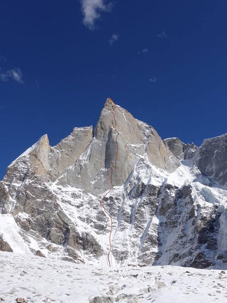 Har Har Mahadev, en el Cerro Kishtwar. Foto: Facebook Thomas Huber