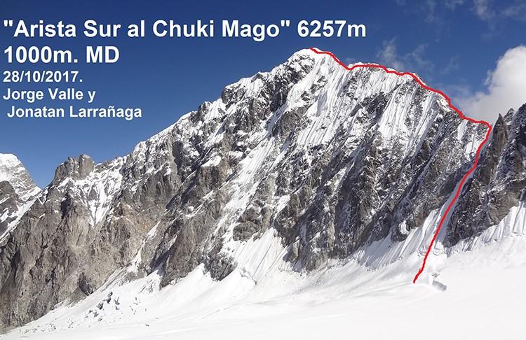 Arista Sur al Chuki-Mago