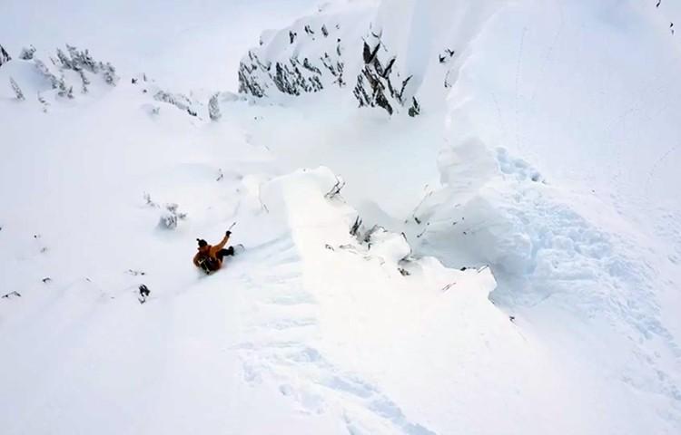 Xavier De Le Rue, snowboard de montaña en Canadá
