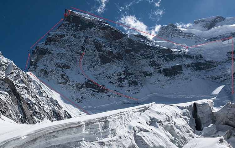 Ruta de ascenso y descenso en el Rungofarka. Foto: Tino Villanueva