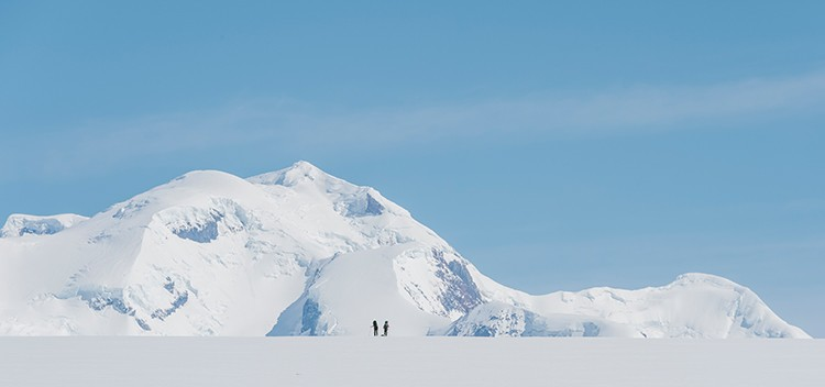 El volcán Lautaro aparece en el horizonte. Foto: José Allende