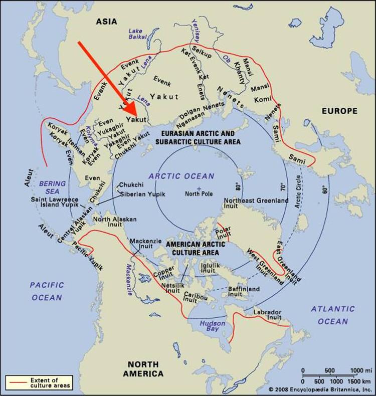 Situación del Pik Pobeda en el Ártico. Foto: Facebook Simone Moro