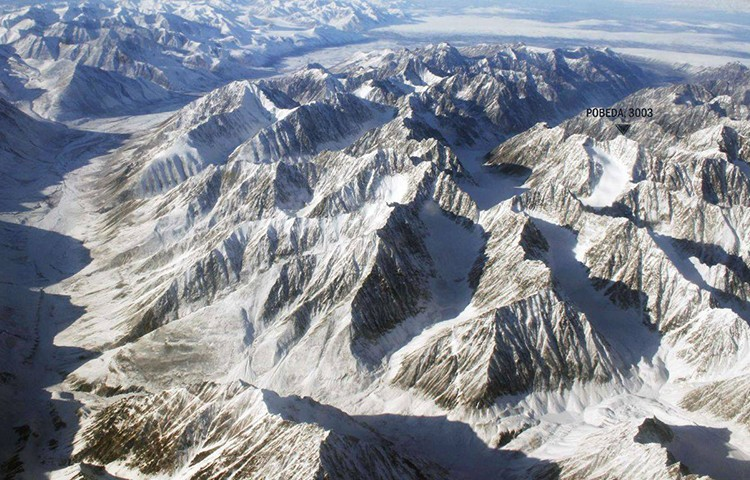 El Pik Pobeda, en la Cordillera Chersky, Siberia. Foto: Facebook Simone Moro