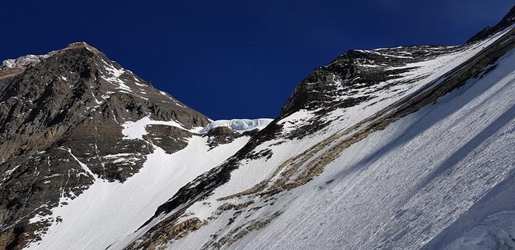 Collado Sur, subiendo por la pared del Lhotse