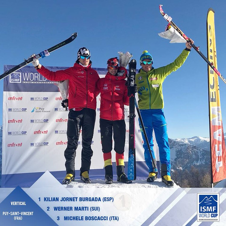 Kilian Jornet regresa a lo más alto del podio. Foto: ISMF