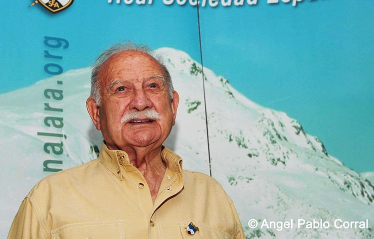 Fallece Félix Méndez. Foto: Ángel Pablo Corral, RSEA Peñalara