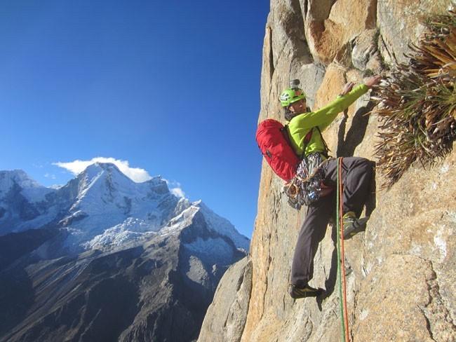 Álvaro Lafuente, escalada alpina en Perú