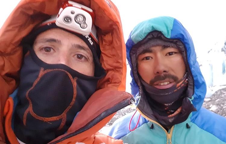 Alex Txikon y su equipo, campo 3 del Everest