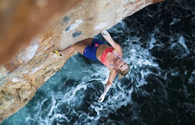 Margo Hayes, Paige Claassen y Emily Harrington, escalada y psicobloc en Mallorca