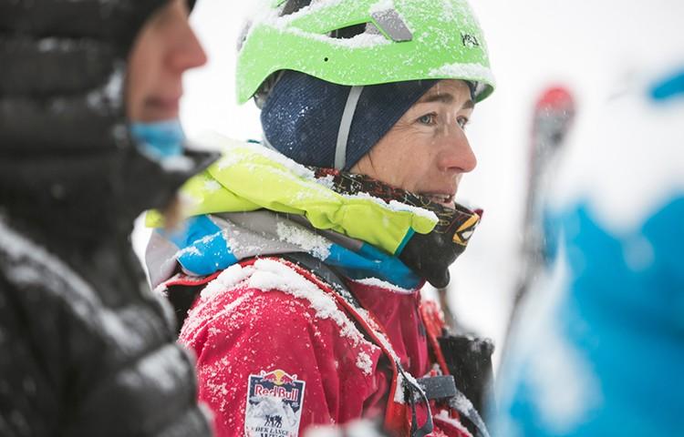 Núria Picas, en la partida de la travesía. Foto: Red Bull Content Pool