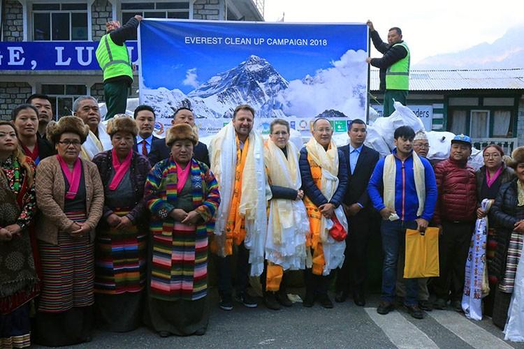 Acto inaugural de la campaña Everest Clean Up 2018. Foto: SPCC