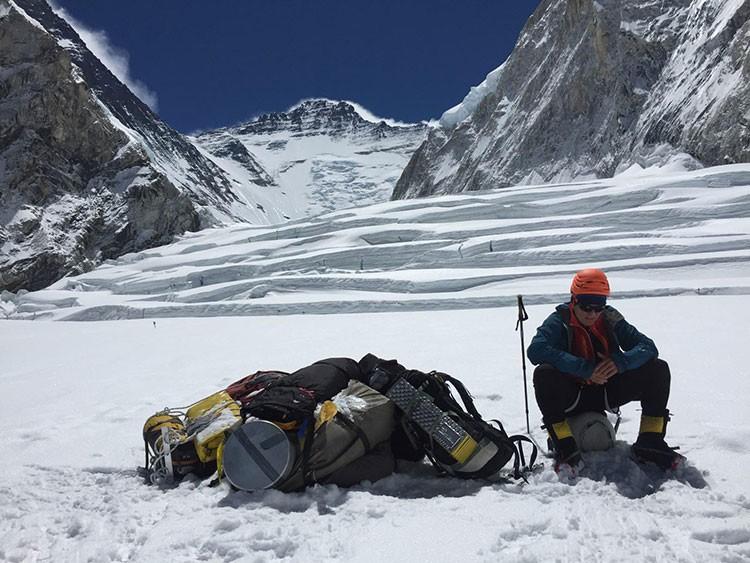 Horia Colibasanu, esta semana aclimatando en el Everest. Foto: Horia Colibasanu