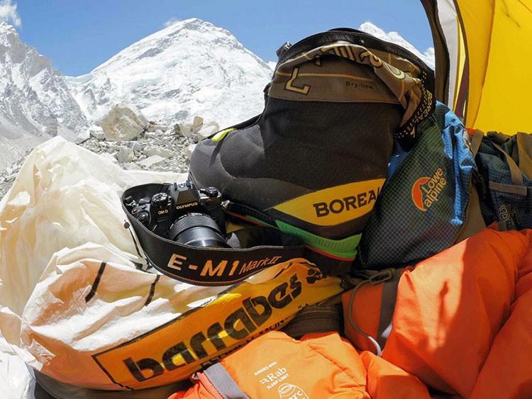 Tienda campo base de Javier Gimeno en el Everest