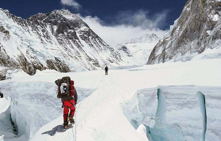 Javier Camacho, cima en el Everest. Foto: Javier Camacho