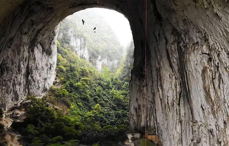 Edu Marín, en el arco de Getu, China
