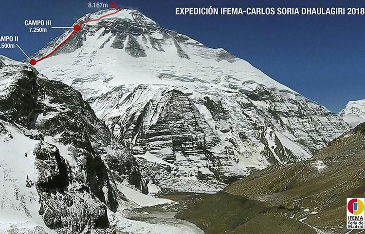 Carlos Soria, listo para el ataque a cima. Foto: Expedición IFEMA