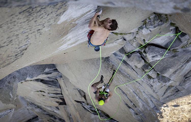 Alex Honnold, durante el récord de escalada a el Capitan