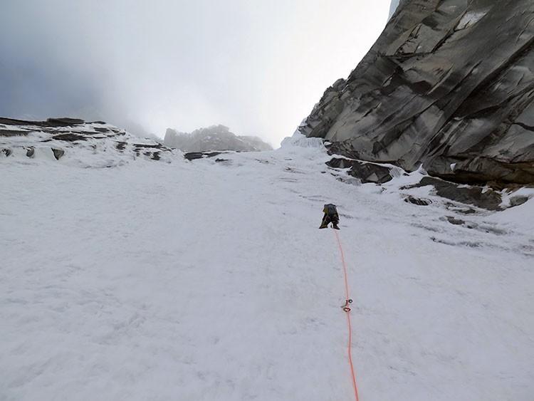 Buenas condiciones de hielo en el Taillarajú. Navarrete-Morales