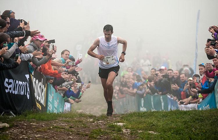 Kilian Jornet, en la pasada edición del Marathon du Mont-Blanc. Foto: Fabian Bodet