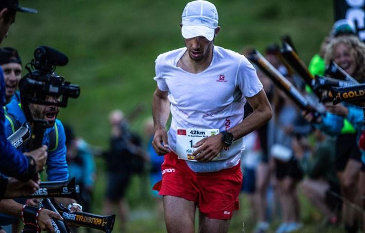 Kilian Jornet en la Marathon du MontBlanc. Foto: Salomon - Martina Valmassoi