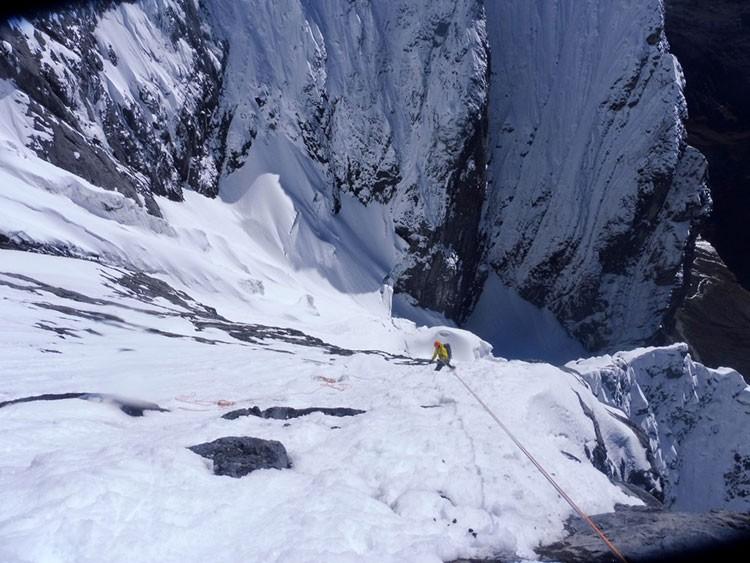 En el Jurau B. Foto: Expedición Huayhuash 2018