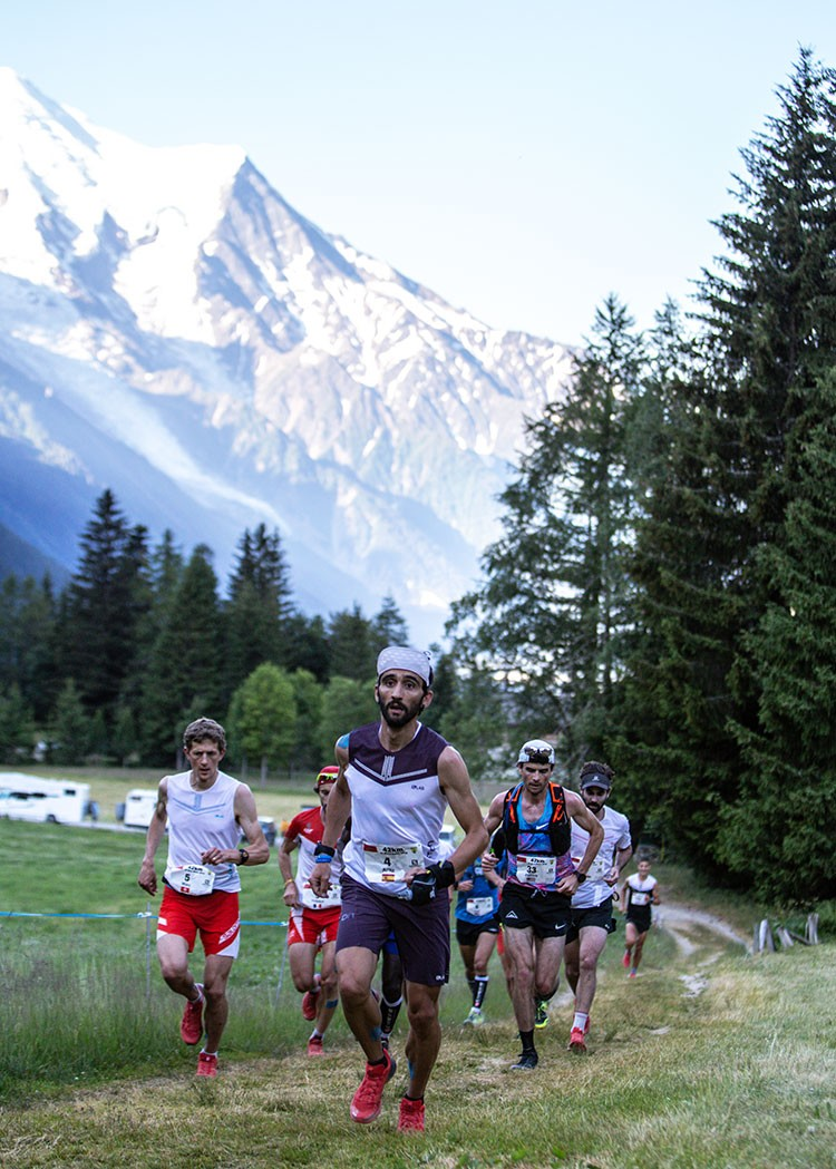 Aritz Egea, hace 2 semanas en la Marathon du Mont blanc. Foto: Martina Valmassoi
