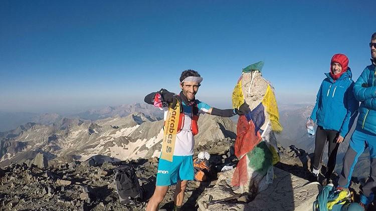 Aritz Egea, en la cima del Posets. Foto: Salomon