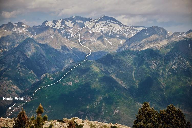 Ruta desde aproximadamente 1.500m hasta cumbre. Foto: Barrabes