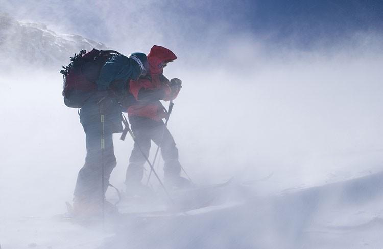 Situación en la que una tercera capa se hace necesaria en la montaña. Foto: Ignacio Ferrando