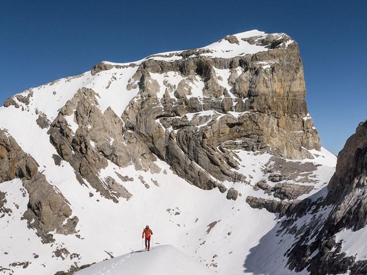 Cilindro de Marboré, desde cerca de la cima de Monte Perdido