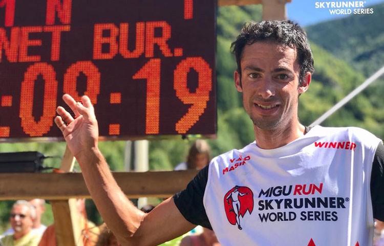 Kilian Jornet, vencedor en el Trofeo Kima, Val Masino, Italia. Foto: Skyrunner World Series