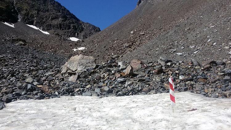 Zonas de nieve en Trail Valle de Tena. Foto: Barrabes