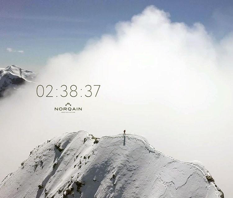 Andreas Steindl alcanza la cumbre del Mattherhorn.