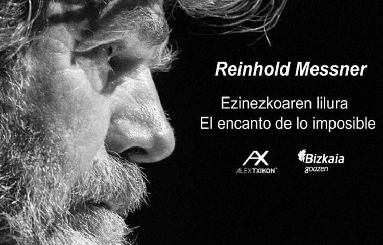 Reinhold Messner, el el Palacio Euskalduna de la mano de Alex Txikon