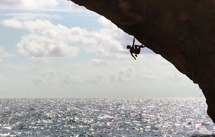 Video. Psicobloc. Jan Hojer, 2ª repetición del arco de Es Pontàs, Mallorca