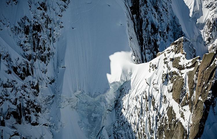 Victor de Le Rue, descenso vertiginosos en las Agujas de Chamonix