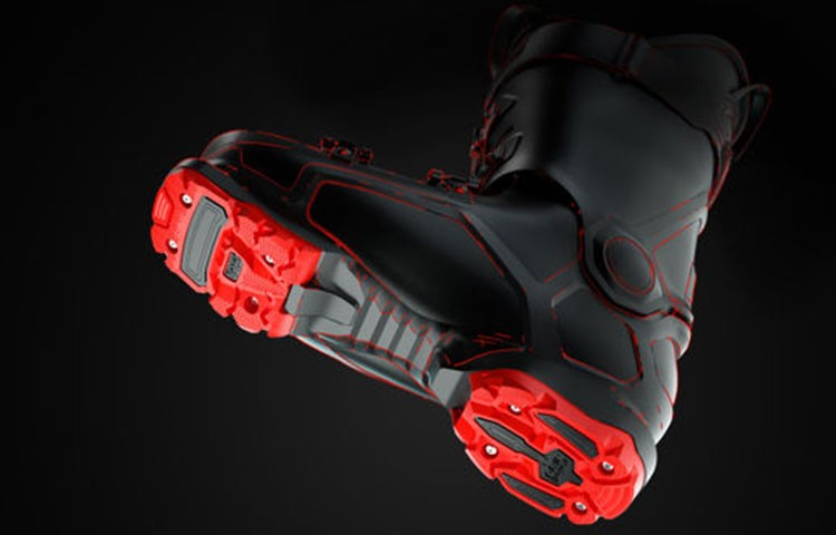 Nueva suela de bota de esquí alpino con sistema GripWalk