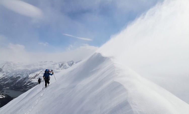 Llegando a la cima de Cerro Fernando. Foto: FFME